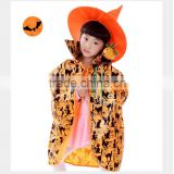 Halloween costumes children pumpkin costume children bat shawl cloak cloak witch Wizard Hat