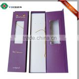 Quality Cardboard hair extension packaging box with hanger