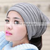 Christmas gift fashion headwear accessories comely two function knitting beanie scarf necker warmer