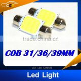2015 HOT sales 31mm 36mm 39mm/42mm C5W 12V 3W Car led festoon light COB 12 chips Auto led LIGHT LAMP bulbs