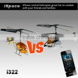 Promotion products! 3.5Ch phont controlled helicopter combat helicopter controlled by iPhone