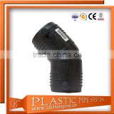Wholesale High Quality Plastic PE Pipe Fittings Elbow 45 or 90 degree