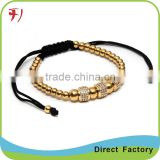christmas gift best selling factory price silver skull bead men bracelet with topaz bead