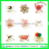 New arrival many color stock ribbon flower for hair decoration