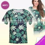 3D print 10 pcs to buy custom chinese supplier ready stock custom verde MARIJUANA branded t-shirt