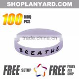 Custom embossed/imprinted/printed logo Silicone Wristband / silicone bracelet / rubber bracelet                                                                         Quality Choice