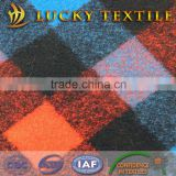 Multicolor plaid jacquard wool fabric for coat