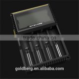 Good quality 4 slots charger Nitecore D4 4 slot rechargeable Lithium LCD Display charger