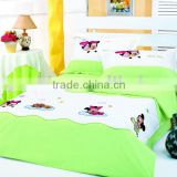 bule and white baby children bedding set for gril bedroom