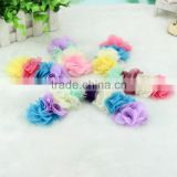Diy chiffon flowers Colorful flowers,flowers for slipper,children's hair accessories