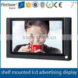 "Flintstone 7"" lcd ad player with sd card slot and speakers / digital signage display advertising / mini led screen"