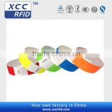 RFID printable paper wristband 250*25mm rfid bracelet tracking