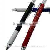 6 In 1 Multifunction Tool Pen / Screwdriver / Ruler / Level /Touch Stylus / Ballpoint Pen