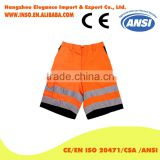 High Quality Hi Vis 100% Twill Fabric Reflective Work Pants For Men Summer working shorts Reflective