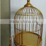 Decorative small round gold metal bird cages                                                                         Quality Choice