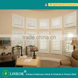 Wholesale arch window wood custom white high quality solid ready made home decorwooden shutter