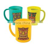 8 oz. 230ml New Fshion Wholesale Party Cups with Handle Colorful Custom Cheap Plastic Tiki Mugs for Promotional Gifts