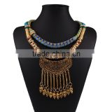 2016 Trendy Layered Braided Rope Necklace Bohemian Tassel Necklace N5491