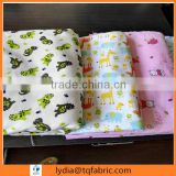 100% cotton woven flannel fabric reactive printed flannel fabric double side brushed for garment