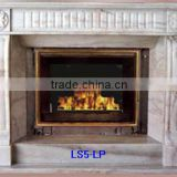 Cast stone fireplace mantels white marble hand carved stone sculpture for home
