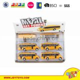 Hot sell Metal pull back Model school bus Toy Car