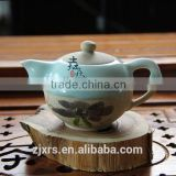 Longquan celadon ceramics creative kung fu tea wholesale custom hand-painted hanging half glazed tea gift packages