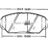 brake pads sale D1301 58101-3JA00 20 for Hyundai brake pad