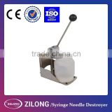 manual stainless steel Syringe Needle Destroyer with CE certificate