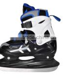 Adjustable ice skate shoes for kid, quality ice hockey with durable ice blade , kid ice hockey skating