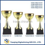Four sizes students matches awards small gold bowl trophies 123ABCD golden trophy cup                                                                         Quality Choice