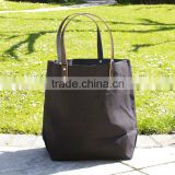 fashionable tote bag,canvas leather strap tote bag,canvas tote bag, heavy tote bag
