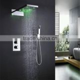 thermostatic in wall shower valve faucet shower panels fixture with inox 304 hydro led bath shower