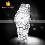 WEIDE Elegant Sapphire Crystal Quartz Steel Women Wrist Watch