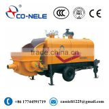 Manufacturers of High performance HBT80 Electrical Trailer-mounted concrete pump with pipe