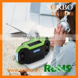 Hottest Selling Newest Design Popular Alarm Clock with Radio For Promotion Gift/Solar LED Flashlight/Phone Charger