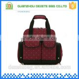 Polyester backpack dark red baby boy diaper bag