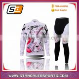 Stan Caleb women long sleeve fleece cycling jersey with Thermal material fleece inside for cold