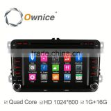 Ownice Wholesales Quad Core Android 4.4 car dvd GPS NAVI player for VW CC PASSAT built in wifi support rear camera