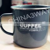 Custom logo printing sublimation metal enamel coffee mug wholesale