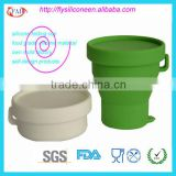 With Folding Design Daily Use Product Colorful Silicone Cup With FDA&LFGB Certification