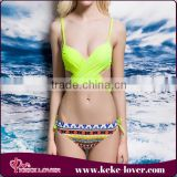 fashion 2016 women sexy swimwear bikini summer hot selling plus size swimsuit push up wholesale bandage bikini