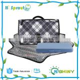 Black and White Grille Baby Travel Changing Station Kit
