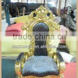 Antique throne chairs,royal throne chair ,gold throne chair B03#