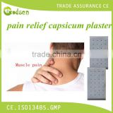2016 free sample china supply Top Grade Sterile Medical Capsicum Plaster/pain relieving patch