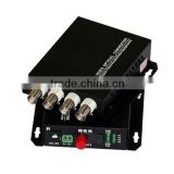 4Ch Video & 1 Channel Bi-Directional Data to Fiber SM 20km Optical Video multiplexer 1CH to 64CH cctv fiber video converter