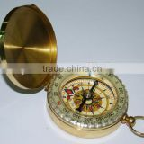 High Quality Outdoor Portable Metal Brass Compass With Lid