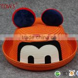 Promotional Premium Quality 100% New Fashion Paper Straw Spring Summer Hat for Kids Children Outdoor