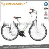 28 inch 700C Electric Bicycle with integrated battery Nexus inner 3 spd 8fun center motor