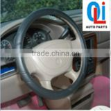Novelty black leather steering wheel cover