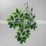 SJ070905 artificial ficus tree leave for decorations occasion plastic ficus banyan tree leaf